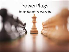 PowerPlugs: PowerPoint template with a cream colored chess piece standing distinctively among others