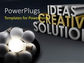 I love this slide set enhanced with a number of bulbs suggesting a number of ideas
