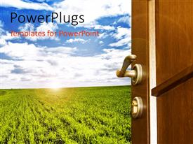 PowerPlugs: PowerPoint template with a crop with a number of clouds