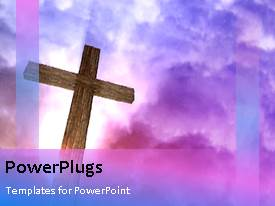 PowerPlugs: PowerPoint template with crucifix with moving clouds