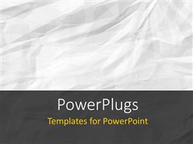 PowerPlugs: PowerPoint template with a plain abstract layout of a crumpled white colored paper.