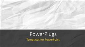 PowerPoint template displaying a plain abstract layout of a crumpled white colored paper.