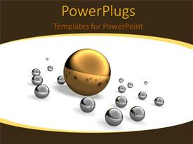 PowerPlugs: PowerPoint template with crystal chess pieces on chess board
