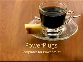PowerPlugs: PowerPoint template with a cup of coffee with cake