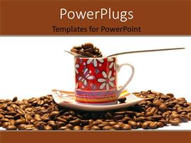 PowerPlugs: PowerPoint template with a cup of coffee with a number of coffee beans
