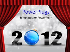 PowerPlugs: PowerPoint template with the currtains being opened with 2012 on the way