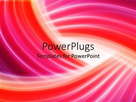 PowerPlugs: PowerPoint template with curved lines with red blurry waves in background