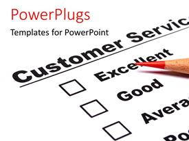 PowerPlugs: PowerPoint template with a color pencil and a customer service document