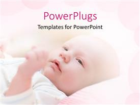 PowerPlugs: PowerPoint template with a cute child with a pinkish background and place for text