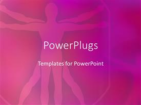 PowerPlugs: PowerPoint template with da Vinci's Vitruvian man in purple with violet background