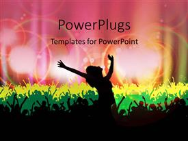 PowerPlugs: PowerPoint template with dancing silhouettes with colored lights