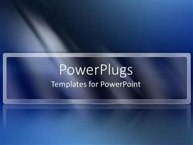 PowerPlugs: PowerPoint template with dark blue abstract light fading white black text modern simple