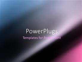 PowerPlugs: PowerPoint template with dark Blue motion blur smooth abstract background