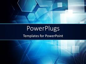 PowerPlugs: PowerPoint template with dark hi-tech background with abstract shapes