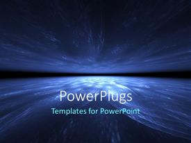 PowerPlugs: PowerPoint template with a dark lit blue and black earth globe background