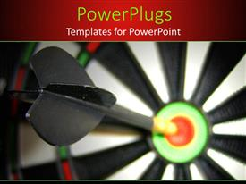 PowerPlugs: PowerPoint template with a dart hitting the target with blur background