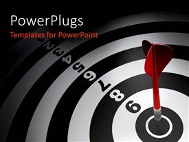 PowerPlugs: PowerPoint template with a dartboard with a dart and a number of digits