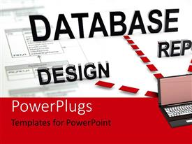 PowerPlugs: PowerPoint template with a laptop with a white background and place for text