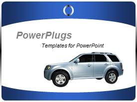 PowerPoint template displaying deal template for car presentation for car dealers and car showrooms