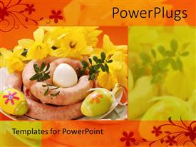 PowerPlugs: PowerPoint template with the Decorated sausages for breakfast