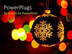 PowerPlugs: PowerPoint template with a decoration ball with a number of lights in the background