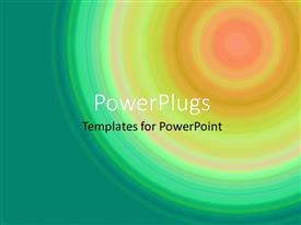 PowerPlugs: PowerPoint template with decorative circle stripes creative art background