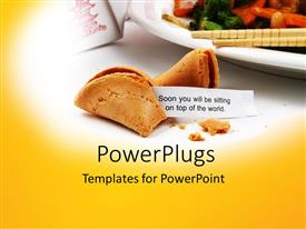 PowerPoint template displaying delicious cookies with food