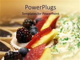 PowerPlugs: PowerPoint template with delicious dessets with fresh fruits