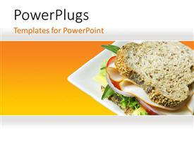 PowerPlugs: PowerPoint template with a delicious meal of a whole wheat bread sandwich