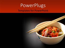 PowerPlugs: PowerPoint template with delicious Thai food and Thai cuisine over a black background