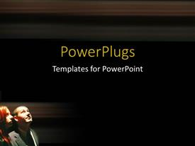 PowerPlugs: PowerPoint template with delightful couple looking up to night sky with black background