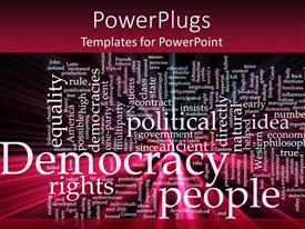 PowerPlugs: PowerPoint template with democracy Rights