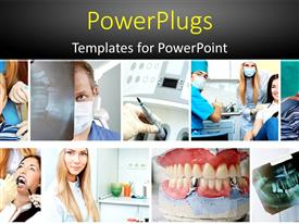 PowerPlugs: PowerPoint template with a number of dentists taking care of the patients