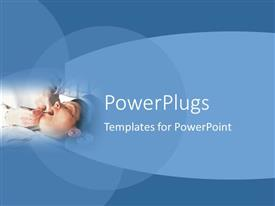 PowerPlugs: PowerPoint template with dentist examining a relaxed patient's teeth