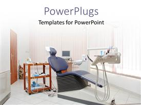 PowerPlugs: PowerPoint template with a dentist office with a white background and place for text
