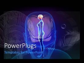 PowerPlugs: PowerPoint template with depiction of body in human head over human brain