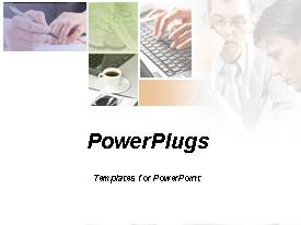 PowerPlugs: PowerPoint template with depiction of a business discussion ,meeting,and team play