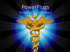 PowerPlugs: PowerPoint template with depiction of caduceus symbol used in the medical profession
