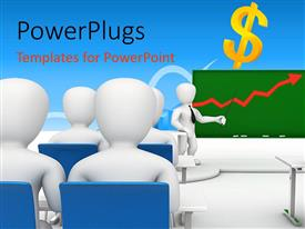 PowerPlugs: PowerPoint template with a number of kids in the classroom with a teacher