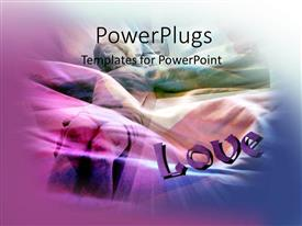 PowerPlugs: PowerPoint template with depiction of Christ's love with Jesus on cross and text LOVE