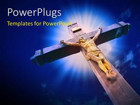 PowerPlugs: PowerPoint template with depiction of crucifixion with Jesus on wooden cross