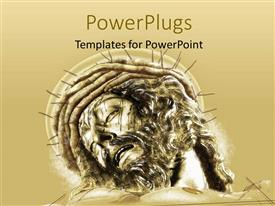 PowerPlugs: PowerPoint template with depiction of crucifixion with statue of Jesus and crown of thorns