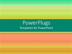 PowerPlugs: PowerPoint template with depiction of different mufti colored lines on plain blurry background