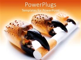 PowerPlugs: PowerPoint template with the depiction of different stages of cancer because of smoking