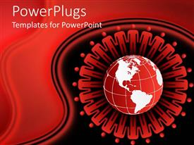 PowerPlugs: PowerPoint template with the depiction of Earth with a number of figures surrounding it