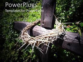 PowerPlugs: PowerPoint template with the depiction of Easter celebrations with a crown of thorns