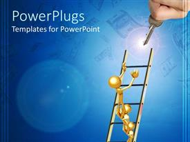 PowerPlugs: PowerPoint template with a depiction of a figure trying to hold the key
