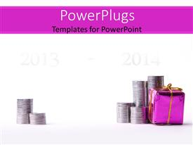 PowerPlugs: PowerPoint template with depiction of financial investment with increased profit in subsequent year