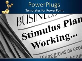 PowerPlugs: PowerPoint template with depiction of the front page of a news paper