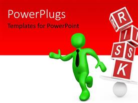 PowerPlugs: PowerPoint template with a person running away from risk